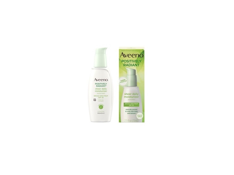 Aveeno Positively Radiant Sheer Daily Moisturizing Lotion for Dry Skin with SPF 30