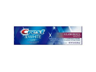 Crest 3D White Luxe Glamorous White Whitening Toothpaste, Vibrant Mint, 4.8 oz