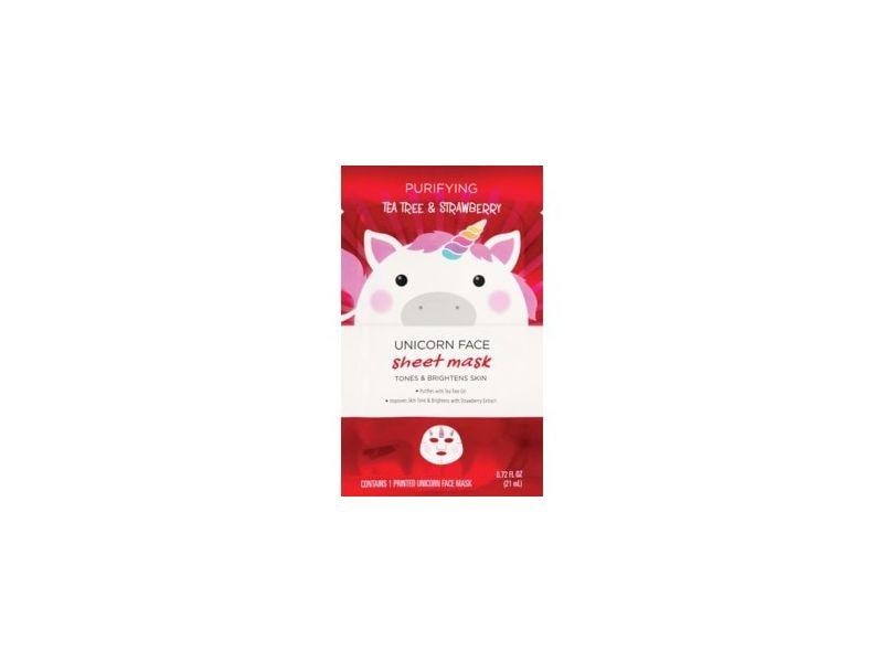 Beauty 360 Purifying Tea Tree & Strawberry Unicorn Sheet Mask