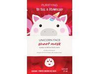 Beauty 360 Purifying Tea Tree & Strawberry Unicorn Sheet Mask - Image 2
