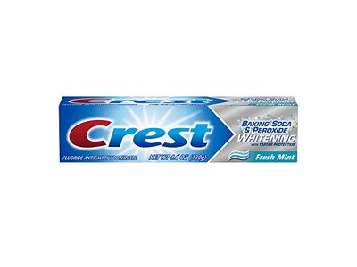 Crest Baking Soda and Peroxide Whitening with Tartar Protection Fresh Mint Toothpaste, 4.6 Ounce - Image 9