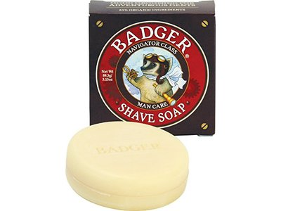 Badger Shaving Soap Bar, 3.15 oz