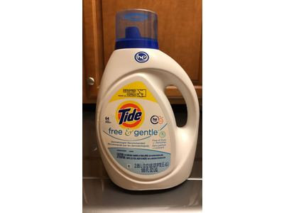 Tide Free and Gentle Liquid Laundry Detergent, 100 oz., 64 Loads - Image 3