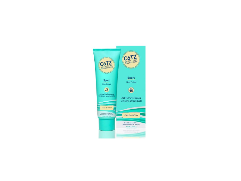 CoTZ Sport SPF45 Mineral Sunscreen, Non-Tinted, 4 oz