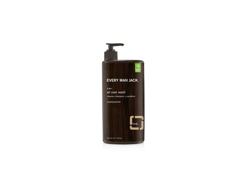 Every Man Jack Sandalwood 3-in-1 All Over Wash, 32 oz