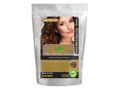 The Henna Guys Hair & Beard Dye, Light Brown, 100 g
