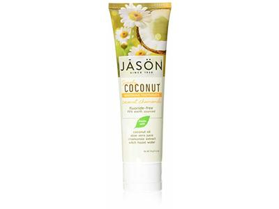 Jason Simply Coconut Soothing Toothpaste, Coconut Chamomile, 4.2 oz
