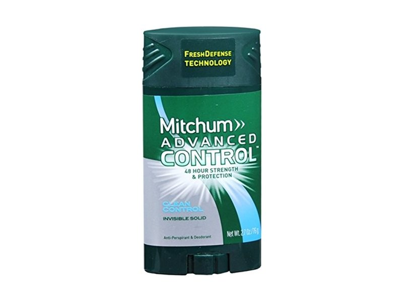 Mitchum Advanced Clean Control Anti-perspirant and Deodorant Invisible Solid, 2.7 Oz (Pack of 6)