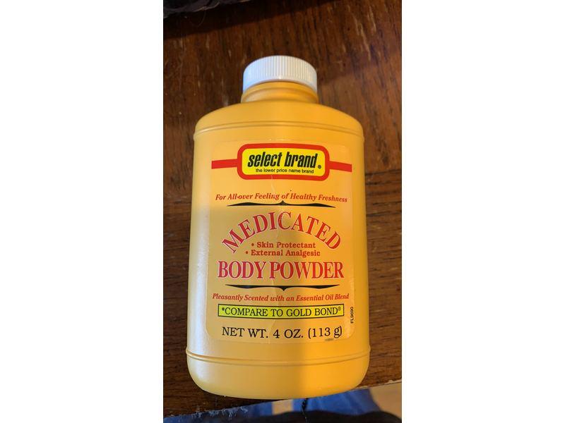 Select Brand Medicated Body Powder, 4 oz