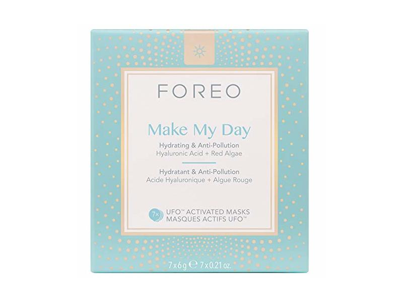 Foreo Make My Day Hydrating Ufo-Activated Mask, Hyaluronic Acid + Red Algae, 7 Ct