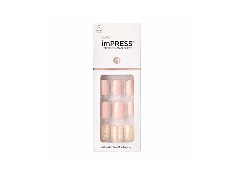 Impress Press-on Manicure, Dorothy, Short Length, 30 Count
