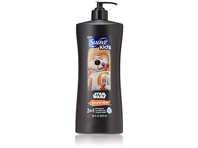 Suave Kids 3 In 1: Shampoo + Conditioner+ Body Wash Star Wars Bb-8 Galactic Fresh, 28 Ounce