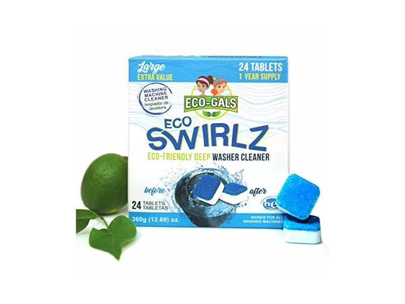 Eco-Gals Eco Swirlz Washing Machine Cleaner, 24 Count
