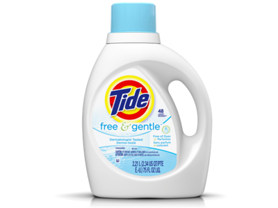 Tide Free & Gentle HE Turbo Clean Liquid Laundry Detergent, 25 Loads, 40 fl oz
