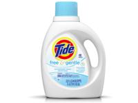 Tide Free & Gentle HE Turbo Clean Liquid Laundry Detergent, 25 Loads, 40 fl oz - Image 2