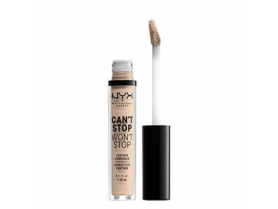 NYX Professional Makeup Can't Stop Won't Stop Contour Concealer, Alabaster, 0.11 Ounce