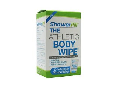Shower Pill Athletic Body Wipes, 10 count