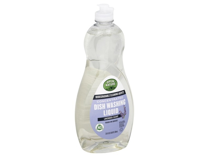 Open Nature Concentrated Dish Washing Liquid, Lavender, 25 fl oz