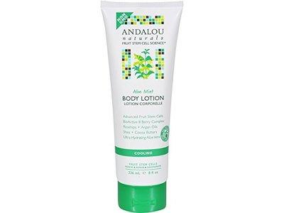 Andalou Naturals Body Lotion, Aloe Mint, 8 Fl Oz