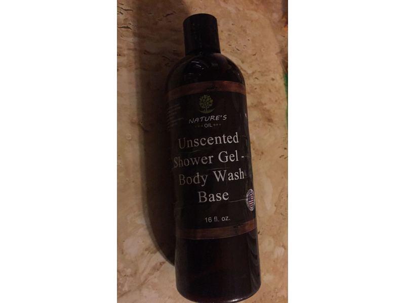 Nature's Oil Shower Gel Body Wash Base, Unscented, 16 fl oz