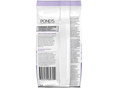 Pond's Evening Soothe Wet Cleansing Towelettes with Chamomile and White Tea, 30 Count - Image 3