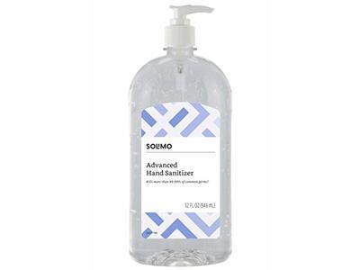 Solimo Advanced Hand Sanitizer, 32 fl oz