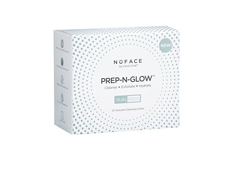 NuFace Prep-N-Glow Cleansing Cloths, Pack Of 20