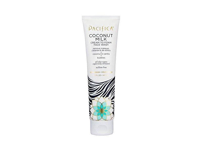 Pacifica Coconut Milk Cream to Foam Face Wash, 5oz
