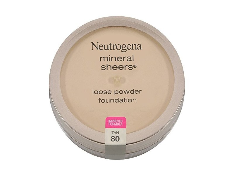 Neutrogena Mineral Sheers Loose Powder Foundation, Tan 80, 0.19 fl oz
