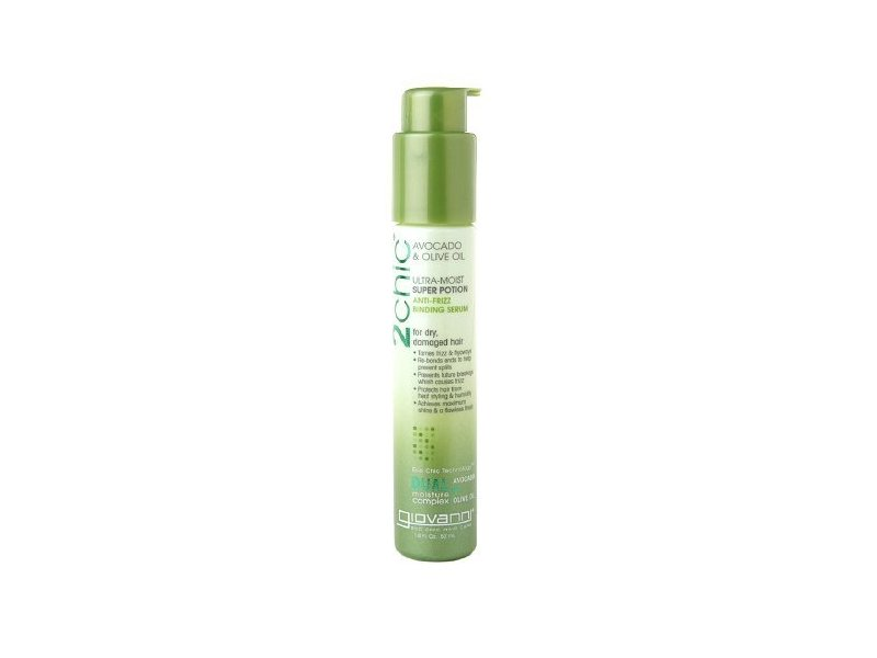 Giovanni Cosmetics 2chic Ultra-Moist Super Potion Anti-Frizz Binding Serum Oil, Avocado & Olive Oil, 1.8 fl oz