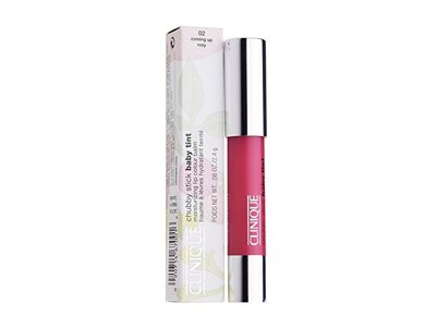 Clinique Chubby Stick Baby Tint Moisturizing Lip Color Balm, No. 02 Coming Up Rosy, 0.08 Ounce - Image 3