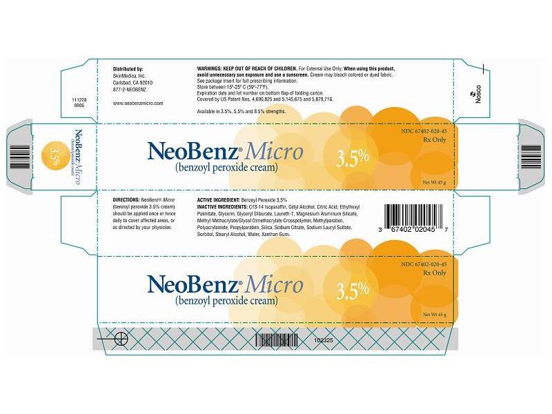 Neobenz Micro 3.5% (RX) 45 Grams, Skinmedica