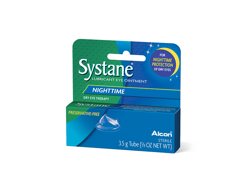 Systane Nighttime Lubricant Eye Ointment, 3.5 g (Pack of 3)