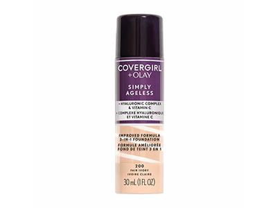 Covergirl Simply Ageless 3-in-1 Liquid Foundation, Fair Ivory, 1 fl oz