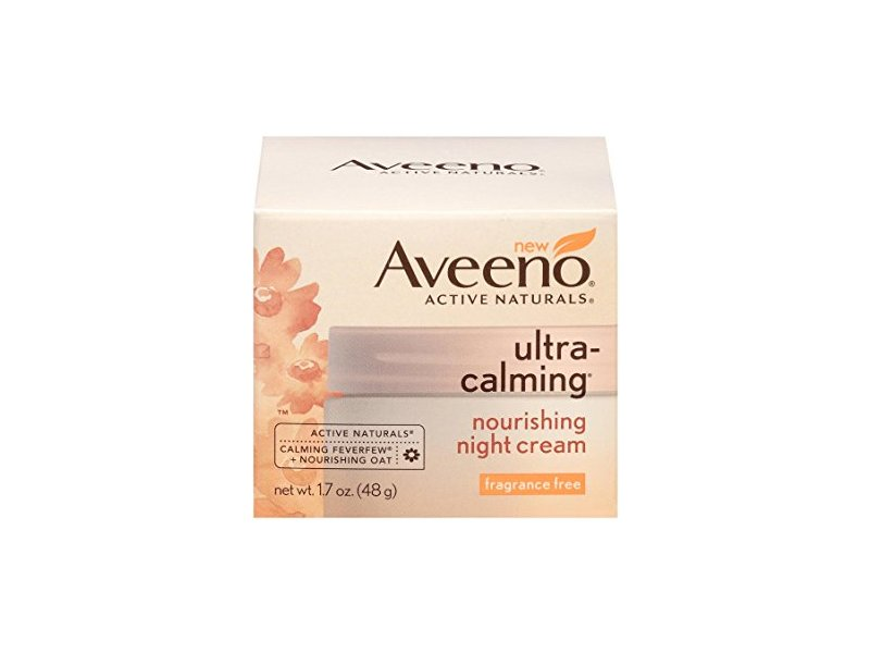 Aveeno Ultra-Calming Nourishing Night Cream, Fragrance Free, 1.7 oz