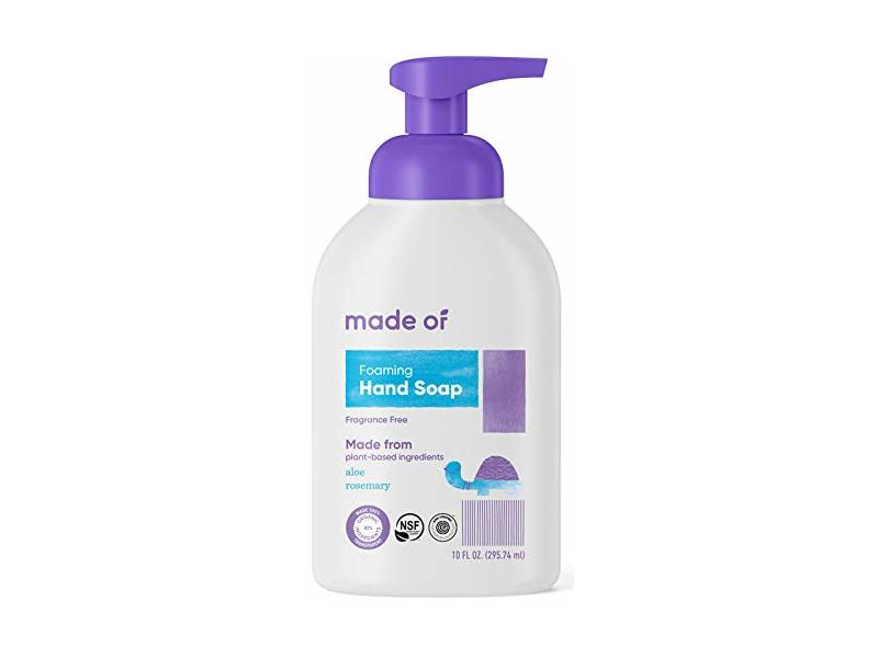 Made Of Foaming Hand Soap, Fragrance Free, 10 fl oz