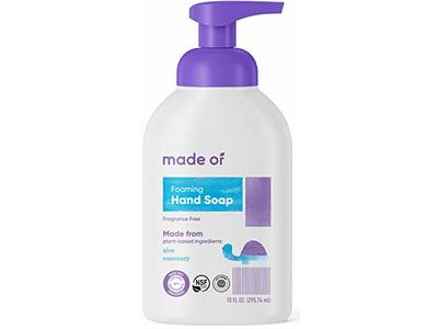 Made Of Foaming Hand Soap, Fragrance Free, 10 fl oz - Image 1