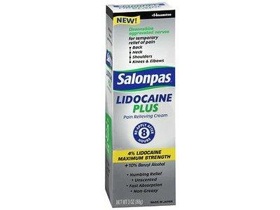 Salonpas Lidocaine Plus Pain Relieving Cream - 4% Lidocaine