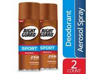 Right Guard Sport Original Deodorant Aerosol Spray, 2 Count - Image 2