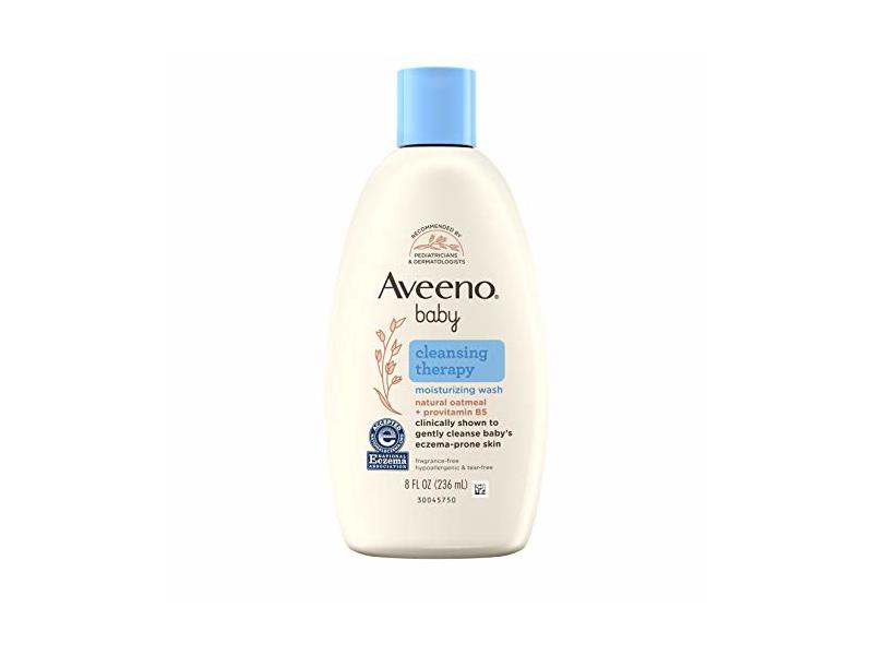 Aveeno Baby Cleansing Therapy Moisturizing Wash, Natural Oatmeal + ProVitamin B5, 8 fl oz/236 mL