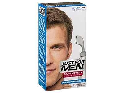 Just For Men Autostop Hair Color, Light Medium Brown A-30, 1 count
