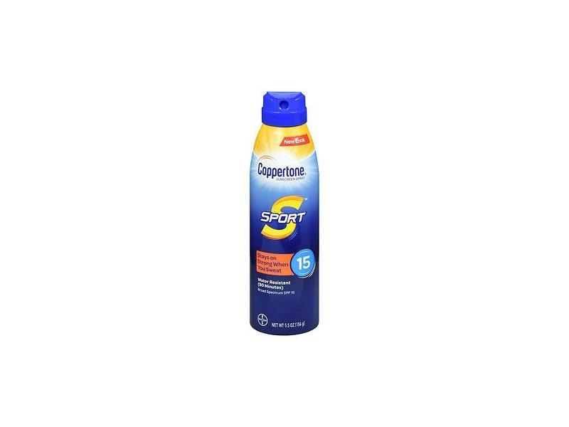Coppertone Sport Sunscreen Spray, SPF 15, 5.5 oz/156 g