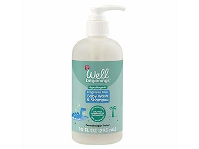 Well Beginnings Baby Wash & Shampoo, Fragrance Free, 10 fl oz