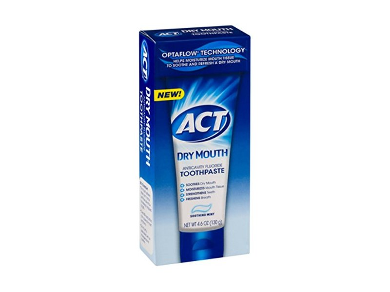 Act Mouthwash Dry Mouth >> Act Toothpaste Dry Mouth Size 4.6 Act Toothpaste Dry Mouth 4.6z Ingredients and Reviews