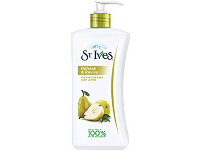 St. Ives Refresh & Revive Body Lotion, Pear Nectar & Soy, 21 oz