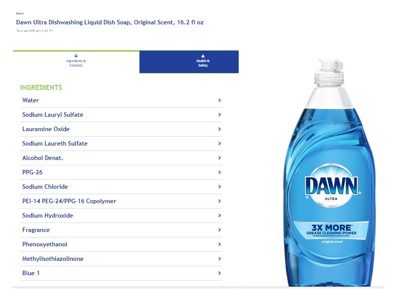 Dawn Ultra Original Scent Dishwashing Liquid, 16.2 fl oz