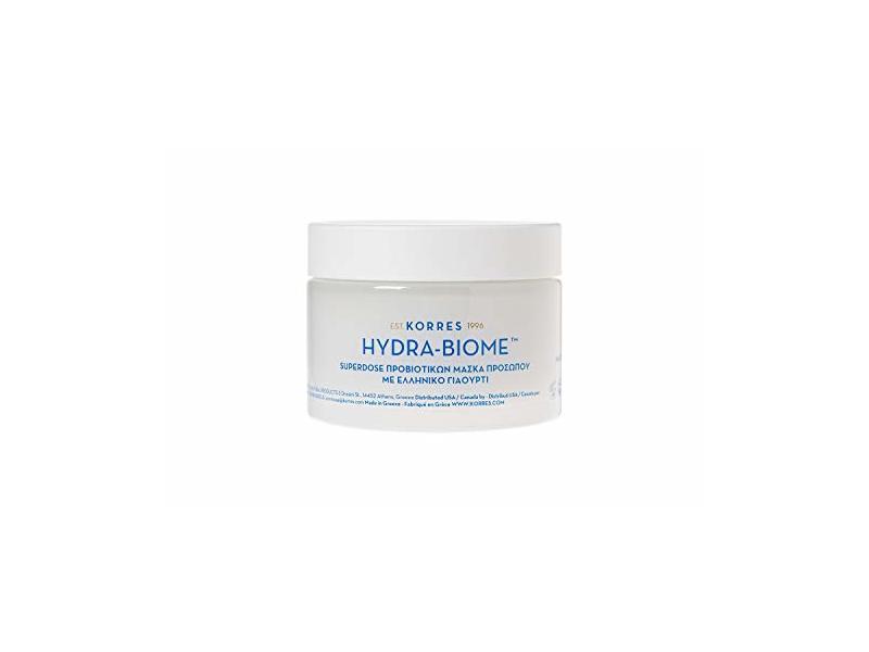 KORRES Hydra-Biome Probiotic Greek Yogurt Mask, 3.38 Fl Oz