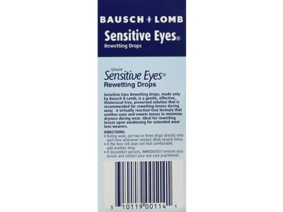 Bausch & Lomb Sensitive Eyes Rewetting Drops, 1-Ounce - Image 3
