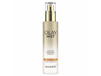 Olay Face Mist Hydrating Facial Spray, Energizing Essence with Vitamin C & Bergamot, 3.3 Fl Oz