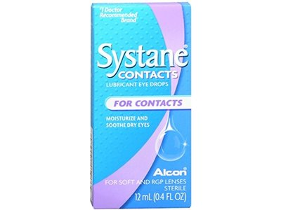 Systane Contacts Lubricant Eye Drops, .41 oz - Image 1